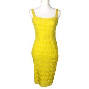 Rachel Roy Bandage Ribbed Bodycon Mini Dress
